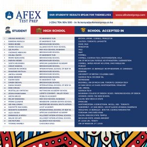 AFEX College admission 2020/21